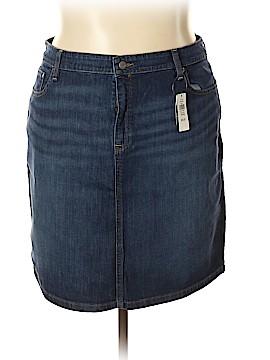 L.L.Bean Denim Skirt Size 18 (Plus)