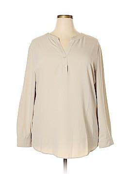 Susan Graver Long Sleeve Blouse Size 26W (Plus)