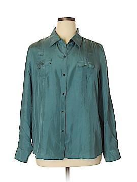 Tommy Bahama Long Sleeve Silk Top Size XL