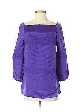Diane von Furstenberg 3/4 Sleeve Silk Top Size 4