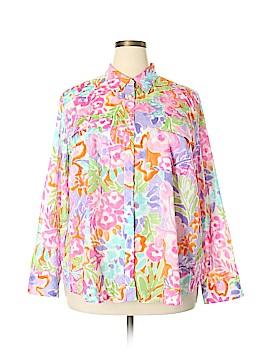 Lauren by Ralph Lauren Long Sleeve Button-Down Shirt Size 3X (Plus)