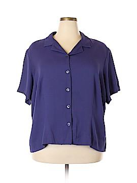 Sag Harbor Short Sleeve Button-Down Shirt Size 3X (Plus)