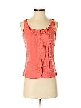 Odille Sleeveless Button-Down Shirt Size 4