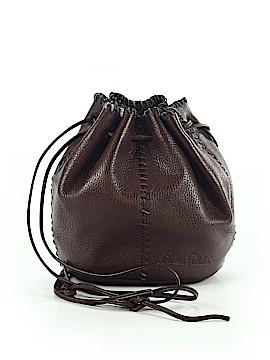 Carlos Falchi Leather Bucket Bag One Size