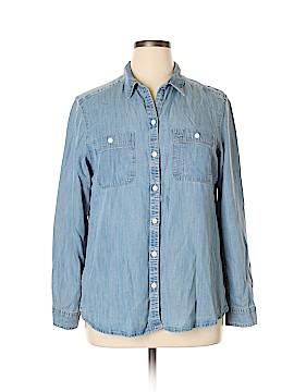 Eddie Bauer Long Sleeve Blouse Size XL