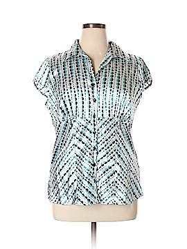 Studio 1940 Short Sleeve Blouse Size XL