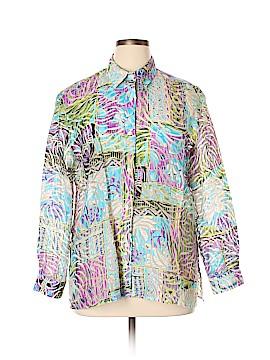 Mirasol Long Sleeve Button-Down Shirt Size XL