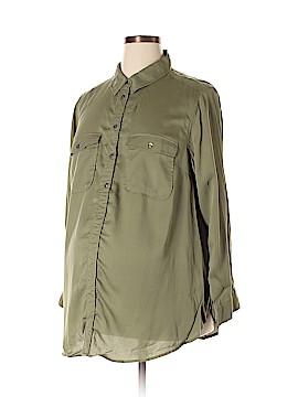 H&M Mama Long Sleeve Button-Down Shirt Size XL (Maternity)