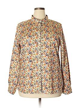 Garnet Hill Long Sleeve Button-Down Shirt Size 18 (Plus)