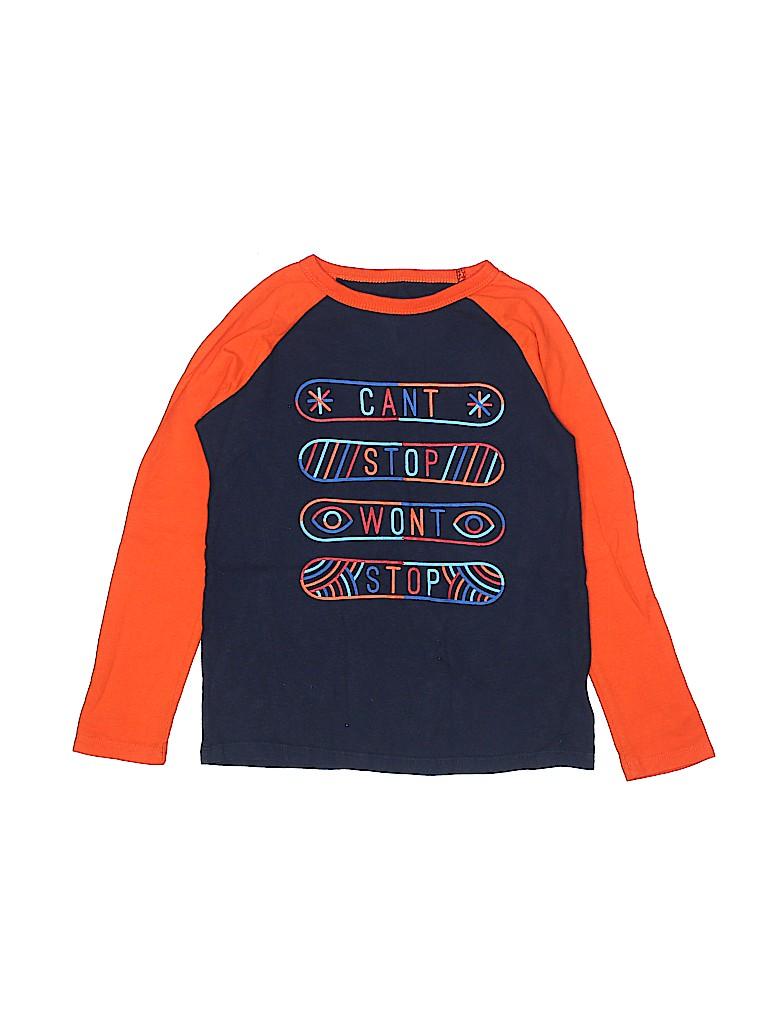 87c687b3bc5e Gap Kids 100% Cotton Graphic Color Block Navy Blue Long Sleeve T ...