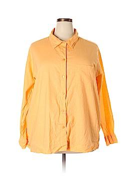 Cherokee Long Sleeve Button-Down Shirt Size 24 (Plus)