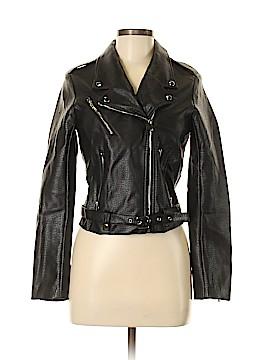Brunette Faux Leather Jacket Size XS (Petite)