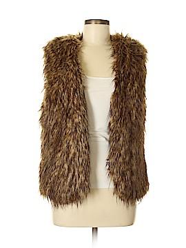 Silent D Faux Fur Vest Size M