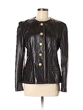 Escada by Margaretha Ley Leather Jacket Size 38 (EU)