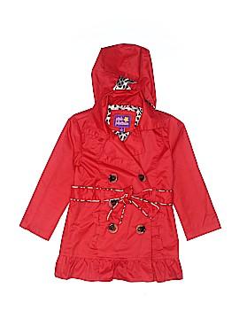 Pink Platinum Raincoat Size 4