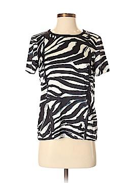H&M Short Sleeve Silk Top Size 4