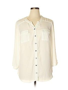 AB Studio 3/4 Sleeve Blouse Size XL