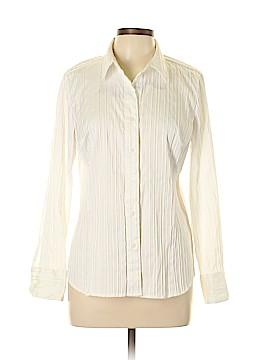 Roz & Ali Long Sleeve Button-Down Shirt Size M