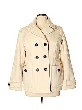 St. John's Bay Wool Coat Size XL (Petite)