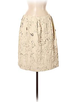 Oscar De La Renta Leather Skirt Size 8