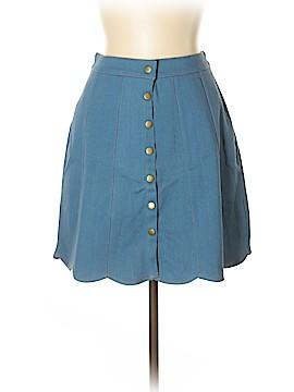 Buttons Denim Skirt Size L