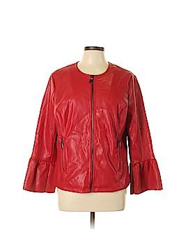 Alfani Faux Leather Jacket Size L