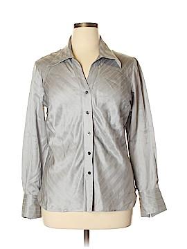 Como Long Sleeve Silk Top Size 16