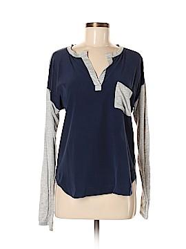 Feel The Piece Long Sleeve Silk Top Size Med - Lg