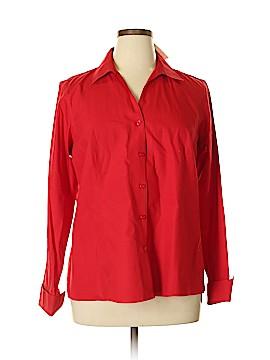 Jones New York Collection Long Sleeve Button-Down Shirt Size 14