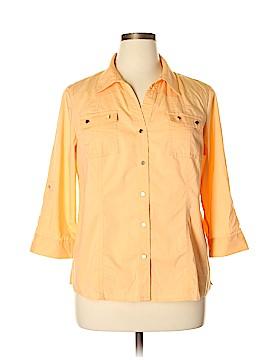 Christopher & Banks Long Sleeve Button-Down Shirt Size XL