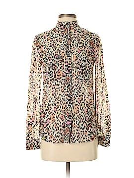 BCBGMAXAZRIA Long Sleeve Silk Top Size XXS