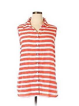 Susan Graver Sleeveless Button-Down Shirt Size 2X (Plus)