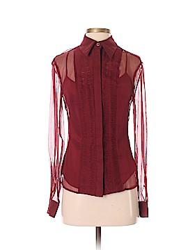 Catherine Malandrino Long Sleeve Silk Top Size 2