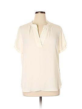 Pleasure Doing Business Short Sleeve Blouse Size XL