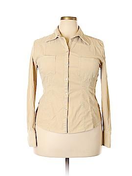 Ann Taylor LOFT Long Sleeve Button-Down Shirt Size 16