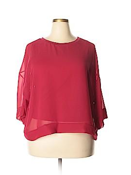 Hype 3/4 Sleeve Blouse Size 3X (Plus)