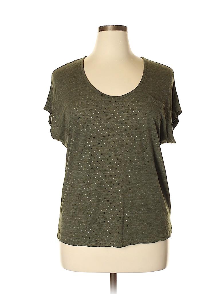 Lands' End Women Short Sleeve T-Shirt Size L