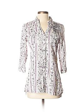 FANG 3/4 Sleeve Button-Down Shirt Size M