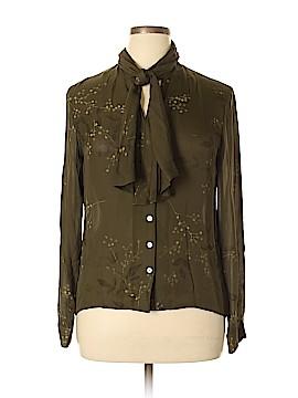 Rena Rowan Long Sleeve Silk Top Size 14