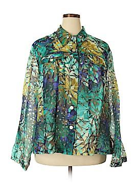 Ruby Rd. Long Sleeve Button-Down Shirt Size 24W (Plus)