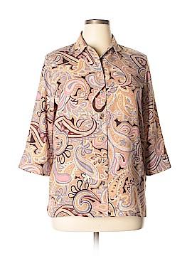 Alia 3/4 Sleeve Button-Down Shirt Size 12
