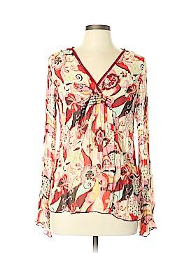 Xhilaration Long Sleeve Silk Top Size XL
