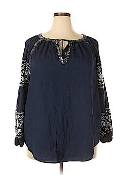 Ruff Hewn 3/4 Sleeve Blouse Size 2X (Plus)