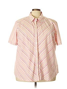 Northcrest Short Sleeve Button-Down Shirt Size 4X (Plus)