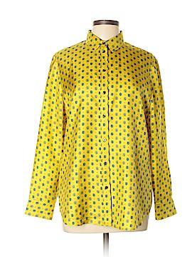 Banana Republic Long Sleeve Silk Top Size L (Petite)