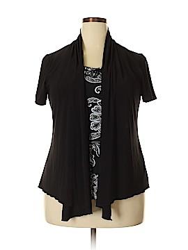 Perseption Short Sleeve Blouse Size 2X (Plus)
