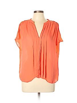 La Fee Verte Short Sleeve Silk Top Size L