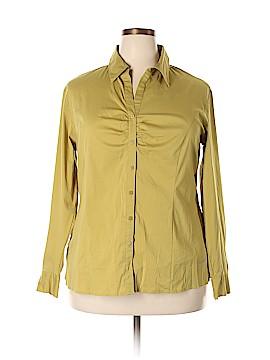 Apostrophe Long Sleeve Button-Down Shirt Size 18W (Plus)