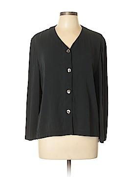 Jones & Co Long Sleeve Silk Top Size 14