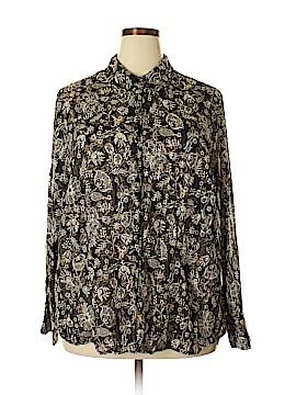 Lane Bryant Long Sleeve Button-Down Shirt Size 24 - 26 Plus (Plus)